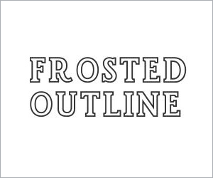 Frosted Outline Image