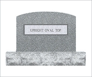 Upright Oval Top Image